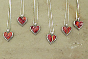 Recently Completed Open Floral Edge Heart